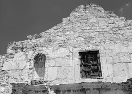 siege: The historic Alamo, San Antonio, Texas Stock Photo