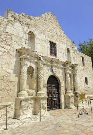 john wayne: The historic Alamo, San Antonio, Texas Stock Photo