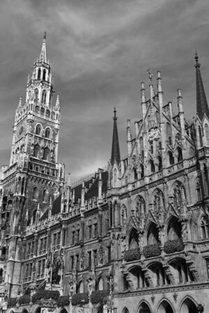 Marienplatz in the city center, Munich, Germany