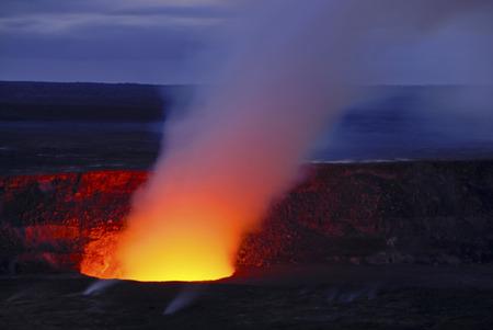 キラウエア クレーター火山国立公園、ハワイ 写真素材