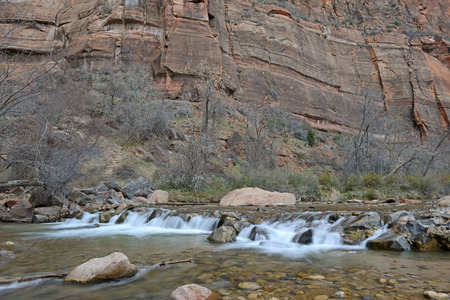 red rock canyon: Red rock canyon landscape in Zion National Park, California, USA