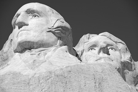 busts: Mount Rushmore National Memorial, symbol of America located in the Black Hills, South Dakota, USA Editorial