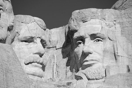presidents' day: Mount Rushmore National Memorial, symbol of America located in the Black Hills, South Dakota, USA Editorial
