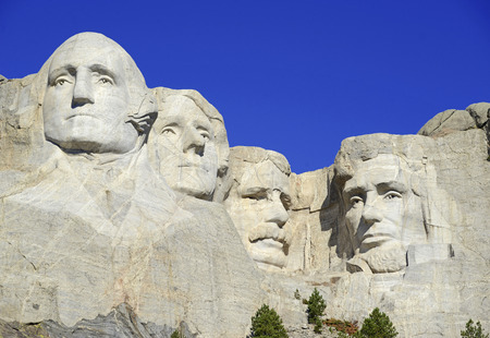 Mount Rushmore National Memorial, symbol of America located in the Black Hills, South Dakota, USA Редакционное