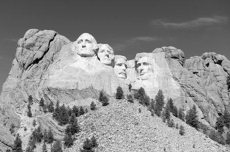 memorial day: Mount Rushmore National Memorial, symbol of America located in the Black Hills, South Dakota, USA Editorial