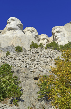 president's day: Mount Rushmore National Memorial, symbol of America located in the Black Hills, South Dakota, USA Editorial