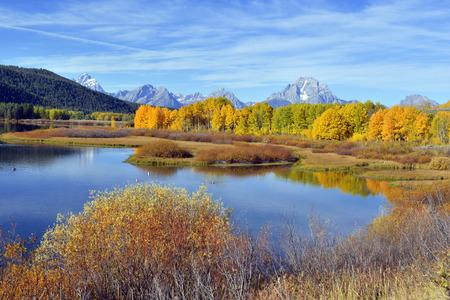 Follaje de otoño en las Montañas Rocosas, EE.UU.