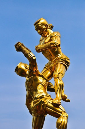 Thai boxing statue
