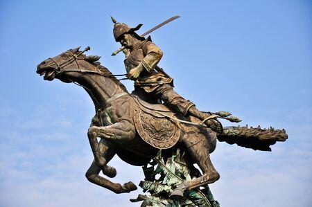 cavalry: Traditioanl thai cavalry Stock Photo