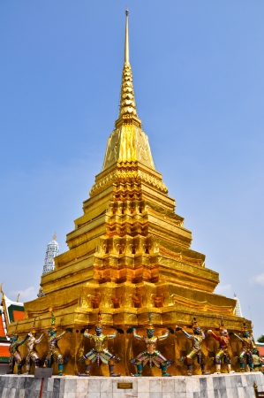 The golden pagoda in grand palace of Thailand