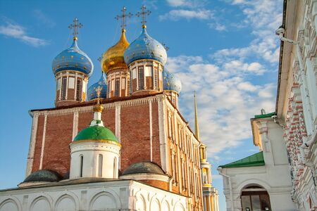 Cathedral of the Assumption of the Ryazan Kremlin Stock Photo