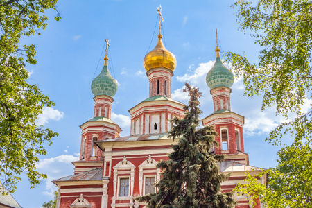 Church of the intercession (Pokrovskaya church) in the Novodevichy convent in summer, Moscow