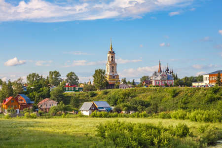 Rizopoloshensky monastery in summer day, Suzdal, Golden Ring, Russia