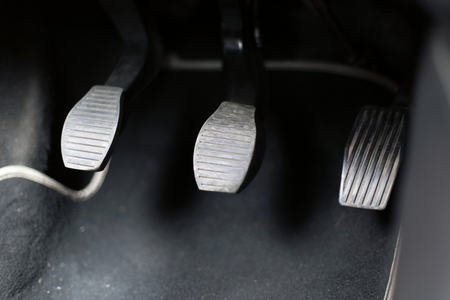 Detail of a pedal, in a modern car Stok Fotoğraf