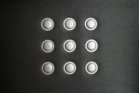 canvass: Close up of a cloth seat sports car similar to carbon fiber Stock Photo