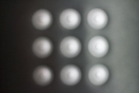 tight focus: Close up of a cloth seat sports car similar to carbon fiber Stock Photo