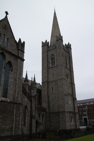 st patrick's: view of St. Patricks Cathedral, Dublin, Ireland Stock Photo