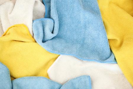 microfiber: Various colored microfiber cloths