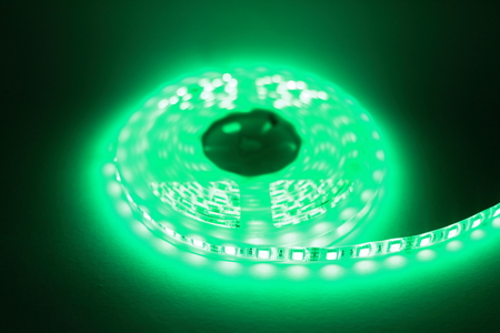 led lighting: Green LED strip light