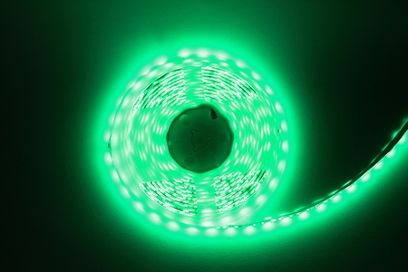 Green LED strip light