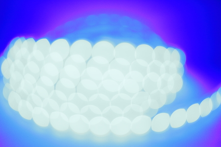 Blurred LED light in different colors