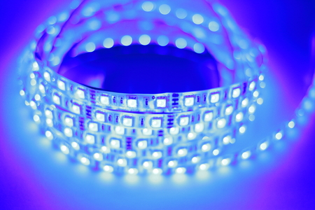 diodes: Blue LED strip light