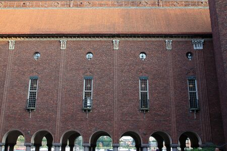 Special views of Stockholm City Hall in the Swedish capital Stok Fotoğraf