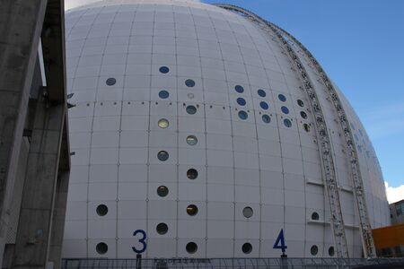 Detail of Ericsson Globe in Stockholm, Sweden