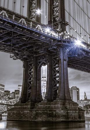 Manhattan bridge with freedom tower Stok Fotoğraf