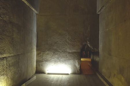 Big pyramids of Egypt. Inside the large pyramid. Inside the pyramid. Chambers and corridors.