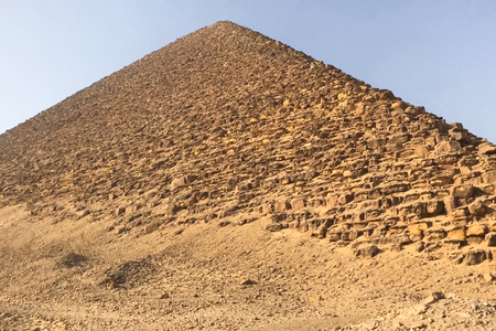 Pyramids of giza. Great pyramids of Egypt. The seventh wonder of the world. Ancient megaliths Фото со стока