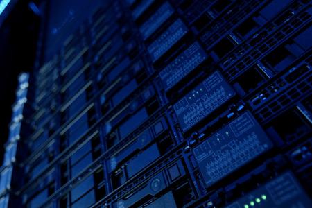 Equipment on the shelves is the data center. Server date centers