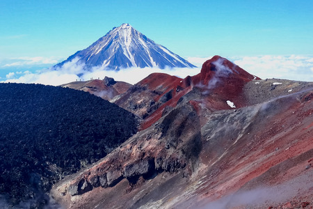 The nature of Kamchatka, the mountains and volcanoes of Kamchatka Stock fotó