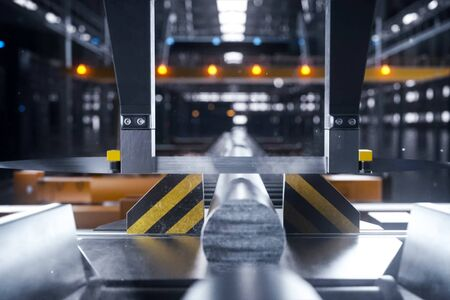 Conveyor line of a plant for the production of metal products.