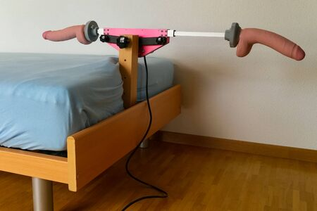 Mécanisme pour jeux attaché au lit Banque d'images
