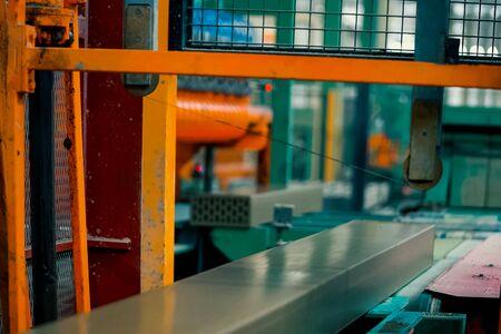 Brick production, hollow ceramic bricks factory. Brick production, bricks factory.