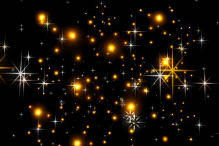 Animated stars on a black background. The starry sky