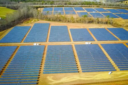 Solar panels. An alternative source of energy. Renewable energy source. Stock Photo
