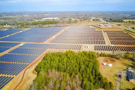 Solar panels. An alternative source of energy. Renewable energy source. Stock Photo - 140597390
