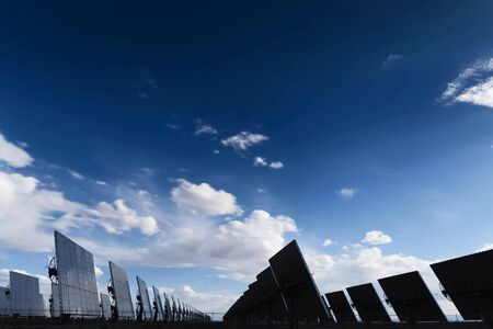 Solar panels. An alternative source of energy. Renewable energy source. Stock Photo - 140597466