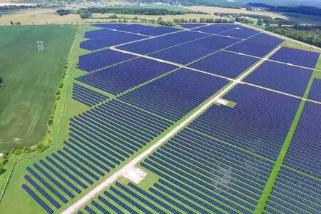 Solar panels. An alternative source of energy. Renewable energy source. Фото со стока