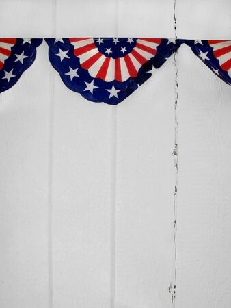 Patriotic Pennant Stock Photo