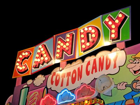 cotton candy: Carnival Cotton Candy Sign