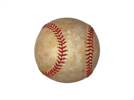 Vintage Baseball isolated on white