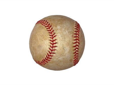 Vintage Baseball isolated on white