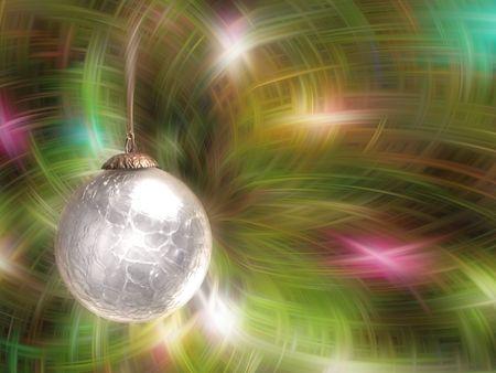 Christmas Ball on Abstract Light Background