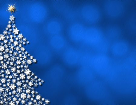 White snowflake tree on glowing blue lights Stock Photo - 2465292