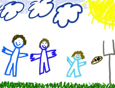 Child's drawing of his family Stock Photo - 2454188