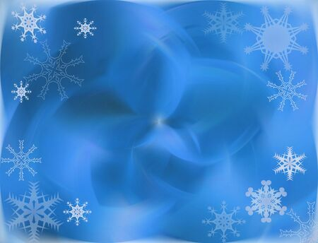 mailer: Winter Blue Snowflake Background Stock Photo