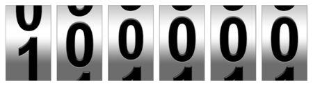 100.000 Mijl Odometer illustratie Stockfoto